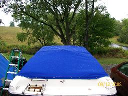 sunbrella water proof reinforced travel cover custom made