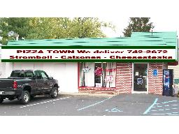 Pizza Town Pizza is the best. Awning rendition